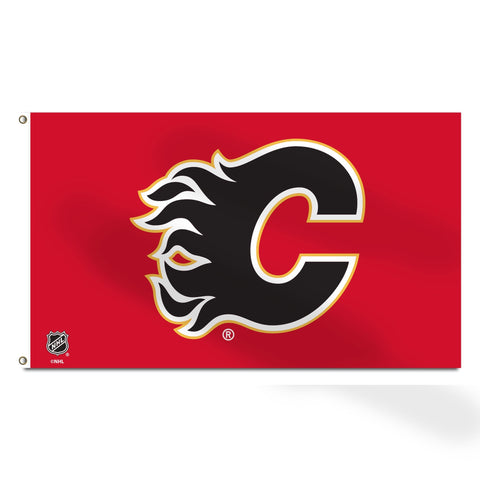 Calgary Flames 3' x 5' Single Sided Banner Flag