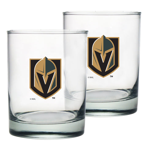 Vegas Golden Knights 2pk Rocks Glass Set