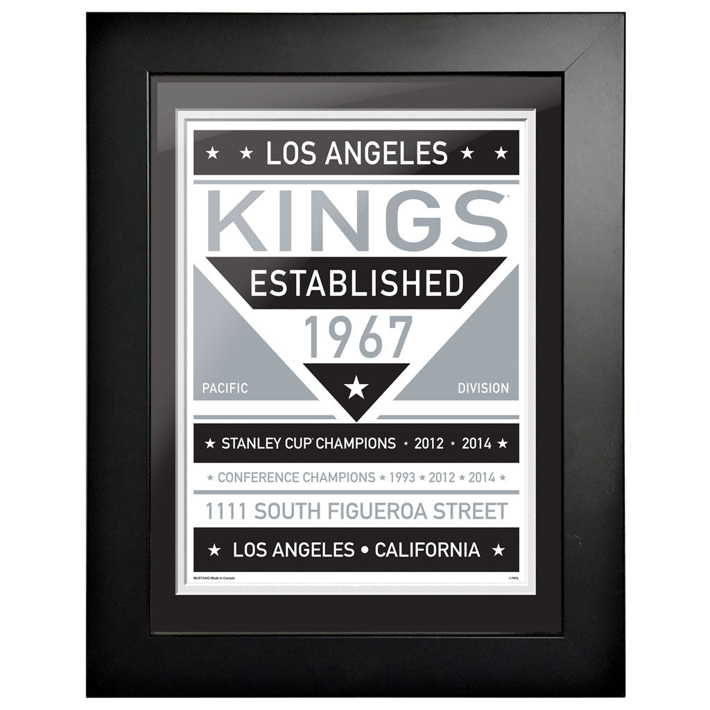Los Angeles Kings 12 x 16 Dual Tone Framed Sign