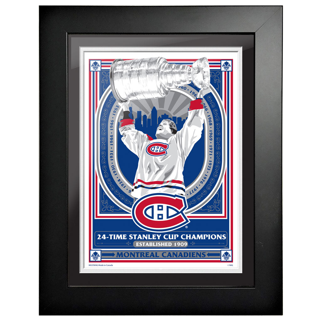Montreal Canadiens 12x16 Propaganda Framed Artwork