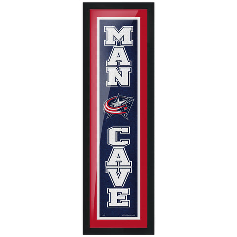 Columbus Blue Jackets 6x22 Man Cave Framed Sign