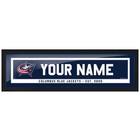 Columbus Blue Jackets-6x22 Team Personalized Pic Frame
