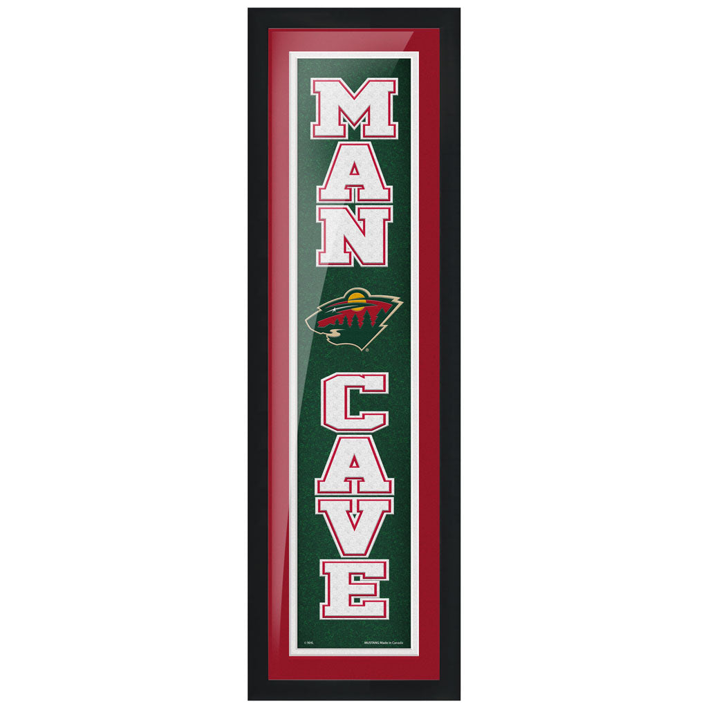 Minnesota Wild 6x22 Man Cave Framed Sign