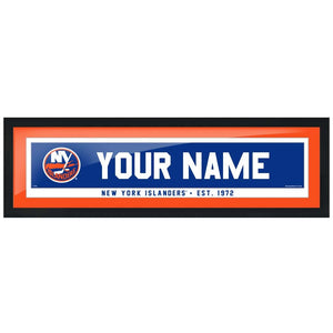 New York Islanders-6x22 Team Personalized Pic Frame