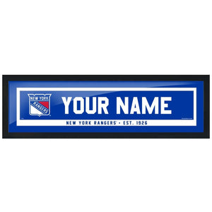 New York Rangers-6x22 Team Personalized Pic Frame