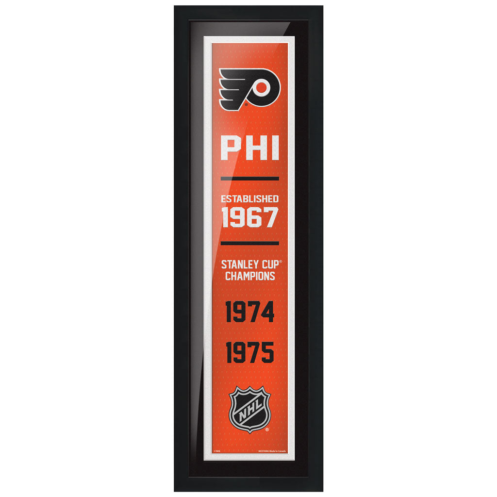 Philadelphia Flyers 6x22 Empire Framed Sign