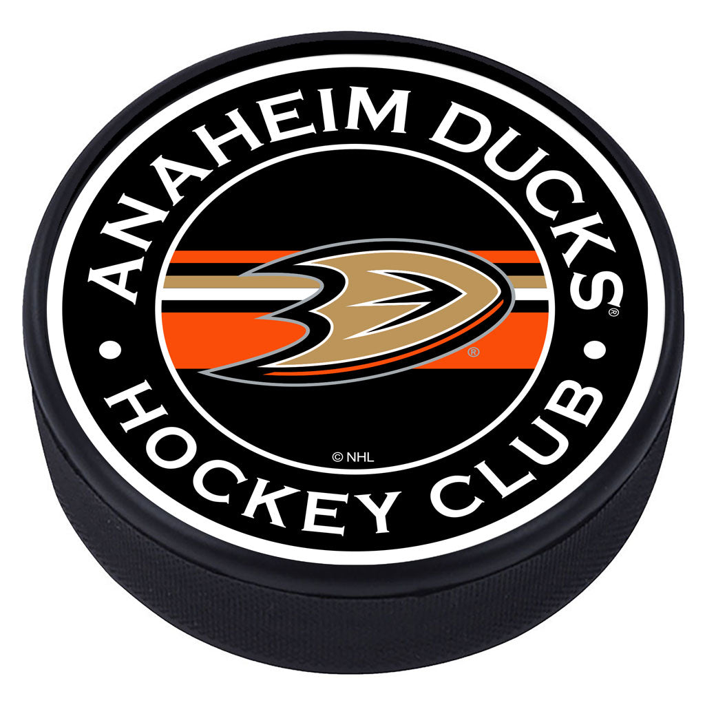 Anaheim Ducks Striped Textured Puck