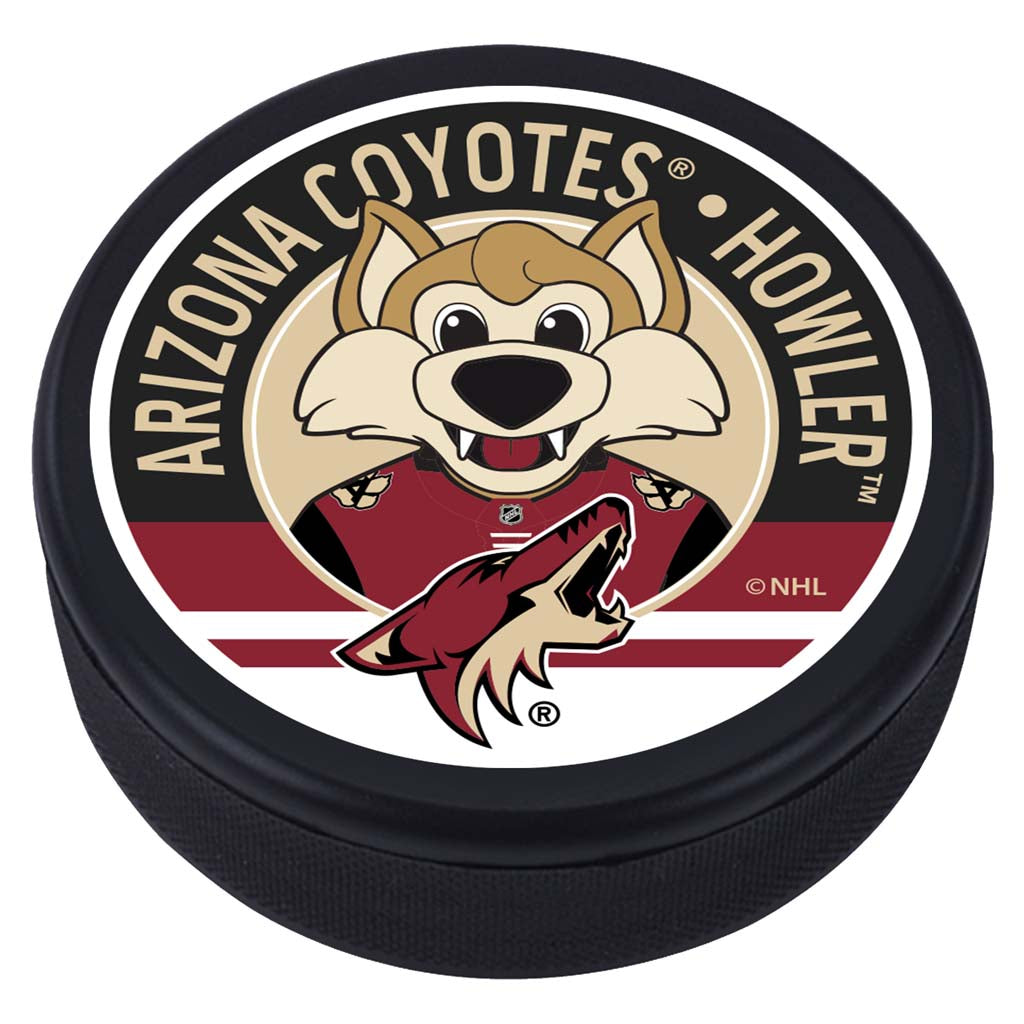 Arizona Coyotes Howler Mascot Textured Puck