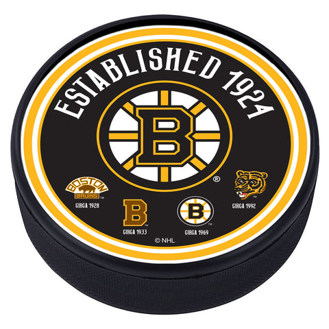 Boston Bruins Heritage Textured Puck