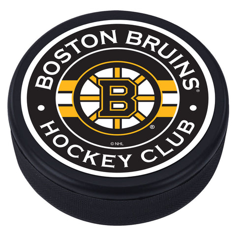 Boston Bruins Striped Textured Puck