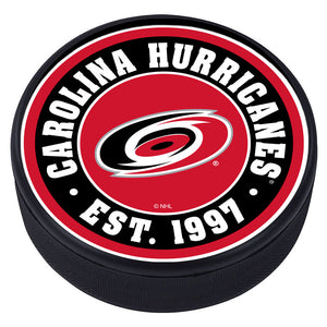 Carolina Hurricanes Established Textured Puck