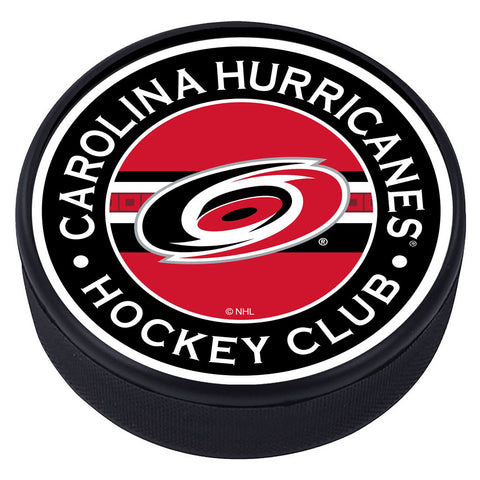 Carolina Hurricanes Striped Textured Puck