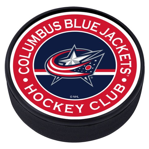 Columbus Blue Jackets Striped Textured Puck