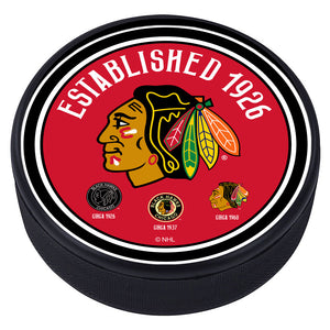 Chicago Blackhawks Heritage Textured Puck