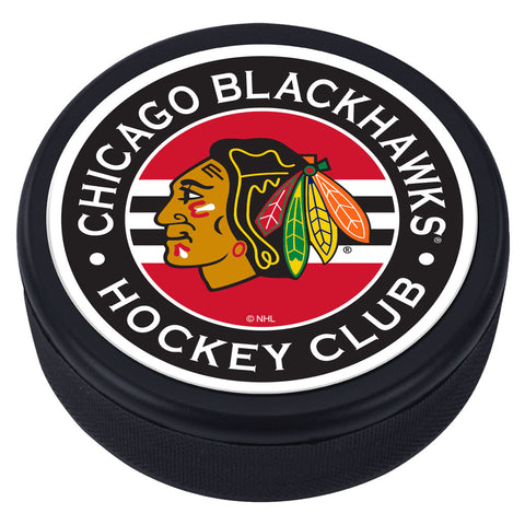 Chicago Blackhawks Striped Textured Puck