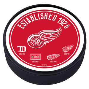 Detroit Red Wings Heritage Textured Puck