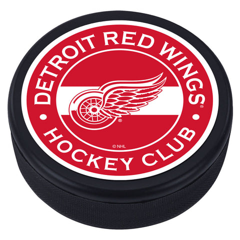 Detroit Red Wings Striped Textured Puck