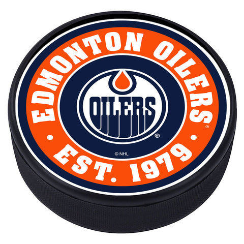 Edmonton Oilers Established Textured Puck