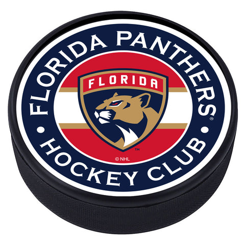 Florida Panthers Striped Textured Puck