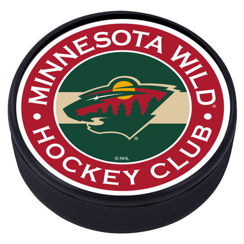Minnesota Wild Striped Textured Puck