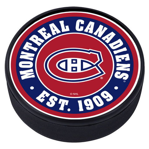 Montreal Canadiens Textured Team Established Puck