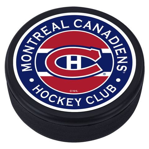 Montreal Canadiens Striped Textured Puck