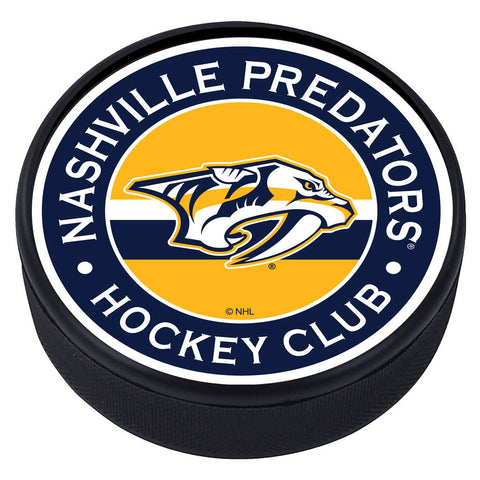 Nashville Predators Striped Textured Puck