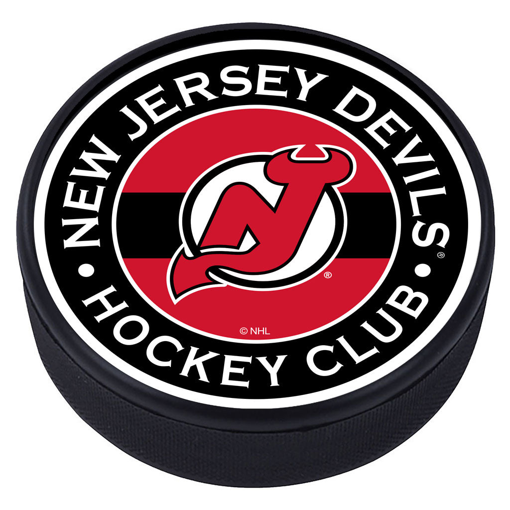 New Jersey Devils Striped Textured Puck