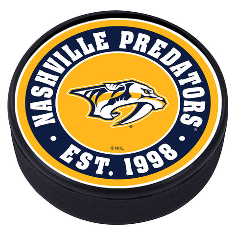 Nashville Predators Established Textured Puck