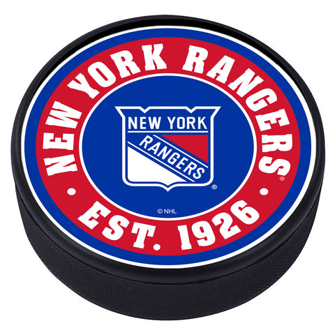 New York Rangers Established Textured Puck