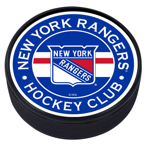 New York Rangers Striped Textured Puck