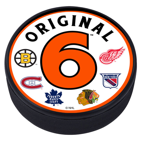 ROUND Textured Hockey Puck - Original 6