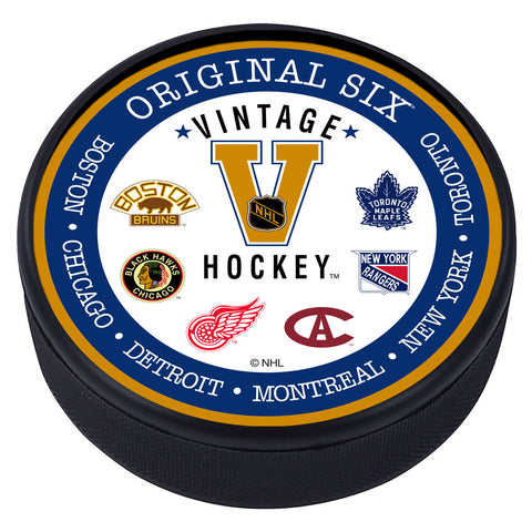 VINTAGE Textured Hockey Puck - Original 6