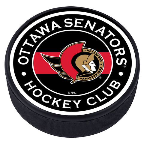 Ottawa Senators Striped Textured Puck