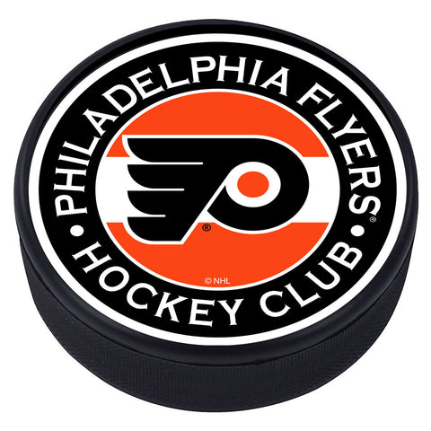 Philadelphia Flyers Striped Textured Puck