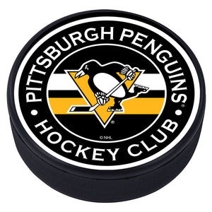 Pittsburgh Penguins Striped Textured Puck