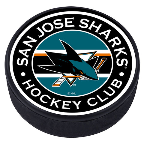 San Jose Sharks Striped Textured Puck