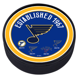 St. Louis Blues Heritage Textured Puck