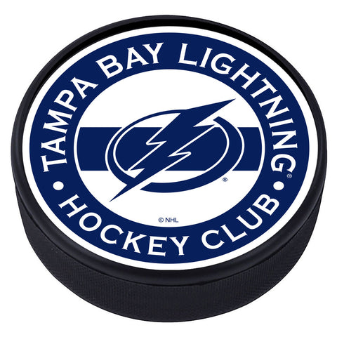 Tampa Bay Lightning Striped Textured Puck