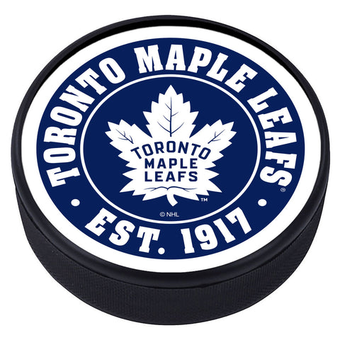 Toronto Maple Leafs Established Textured Puck