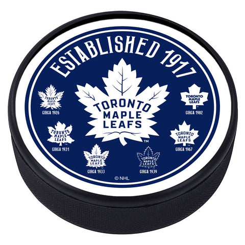 Toronto Maple Leafs Heritage Textured Puck