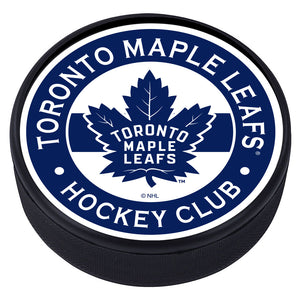 Toronto Maple Leafs Striped Textured Puck