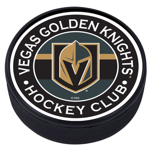 Vegas Golden Knights Striped Textured Puck