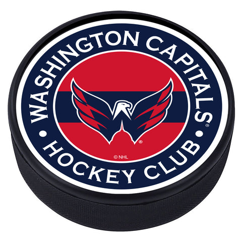 Washington Capitals  Striped Textured Puck