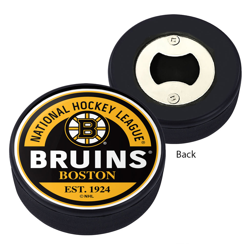 Boston Bruins Block Textured Puck Opener