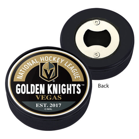 Vegas Golden Knights Block Textured Puck Opener
