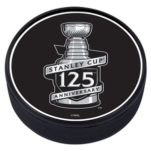 NHL 125th Stanley Cup Anniversary Textured Puck
