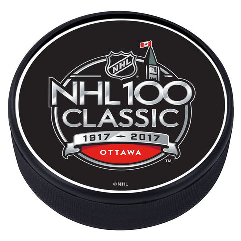 NHL 100 Classic Textured Puck - 2017