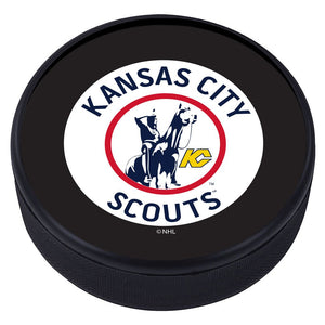 Kansas City Scouts Vintage Classic Textured Puck