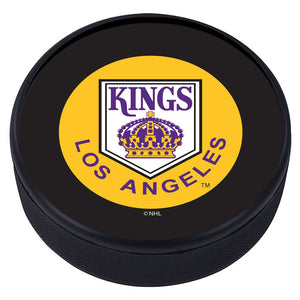 LA Kings Vintage Classic Textured Puck - Yellow Logo
